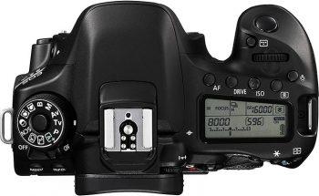 lato superiore della Canon EOS 80D