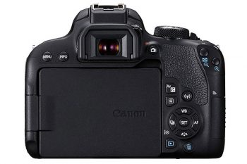 Canon EOS 800d (display e retro)