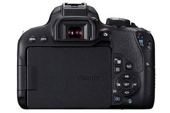 Canon EOS 800d (display e retro)