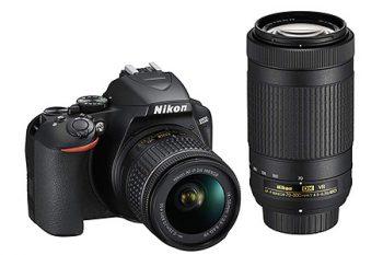 Nikon d3500 con obiettivo 18-55mm e 70-300mm VR