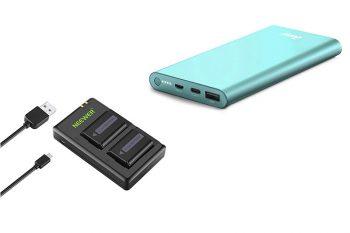 batterie supplementari per fotocamera e powerbank