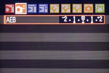 le impostazioni del bracketing su una fotocamera Canon