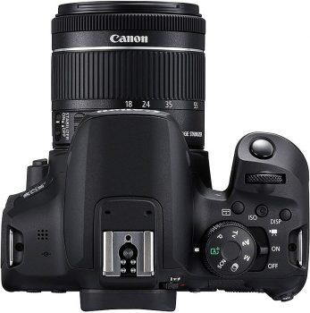 la parte superiore della fotocamera reflex, con la ghiera delle modalità di scatto