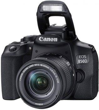 canon eos 800D con flash attivo