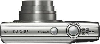 Canon IXUS 185 vista dall'alto con zoom attivo
