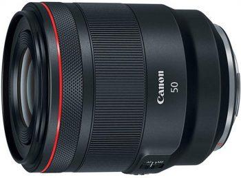 Obiettivo professionale Canon RF 50mm f/1,2 per mirrorless full frame
