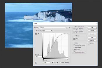migliorare contrasto con strumento curve photoshop