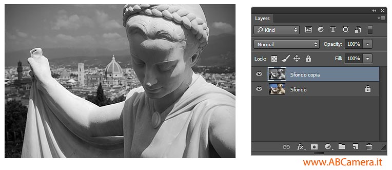 copiare livelli photoshop