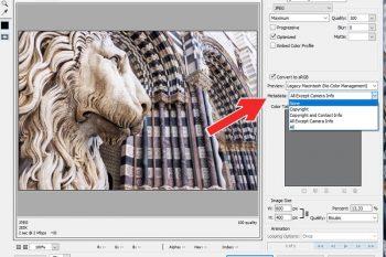 come eliminare gli exif con photoshop