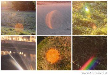 esempi di lens flare e ghosting in fotografia