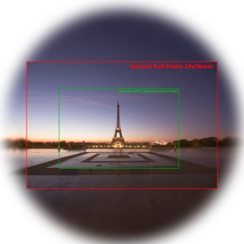 Focale equivalente: confronto aps-c full frame