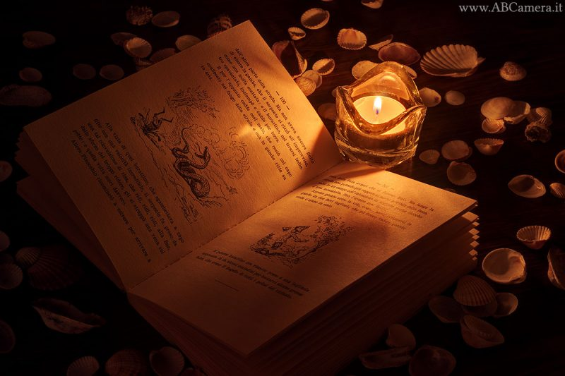 esempio di foto al lume di candela