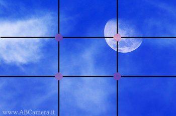 esempio di come fare foto alla luna seguendo la regola dei tezi