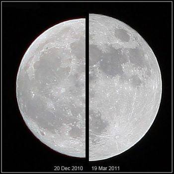 differenza tra le dimensioni della luna e della superluna