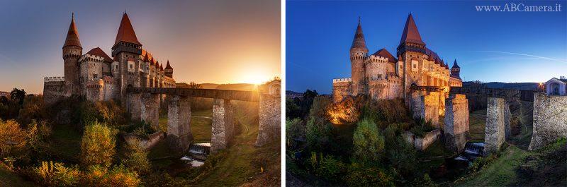 differenza tra fotografare al tramonto e durante l'ora blu