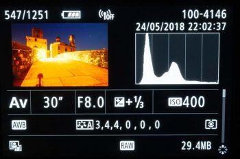 istogramma fotocamera digitale