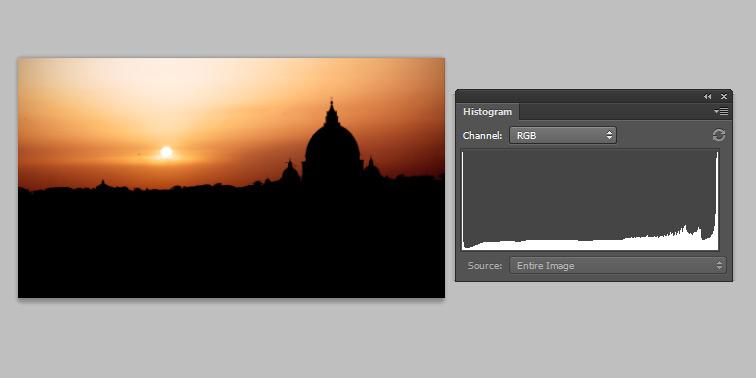istogramma fotografia silhouette