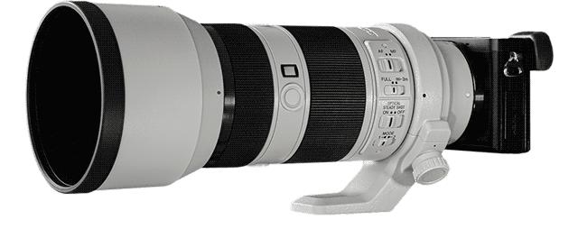teleobiettivo su fotocamera mirrorless
