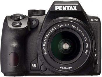 pentax k-70 con obiettivo 18-50mm
