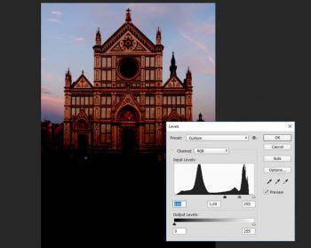scurire cielo photoshop livelli