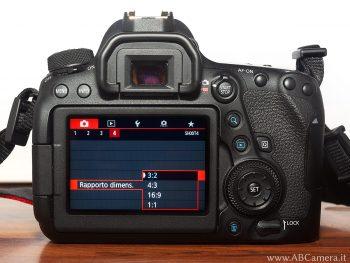 cambiare rapporto di aspetto su una fotocamera reflex