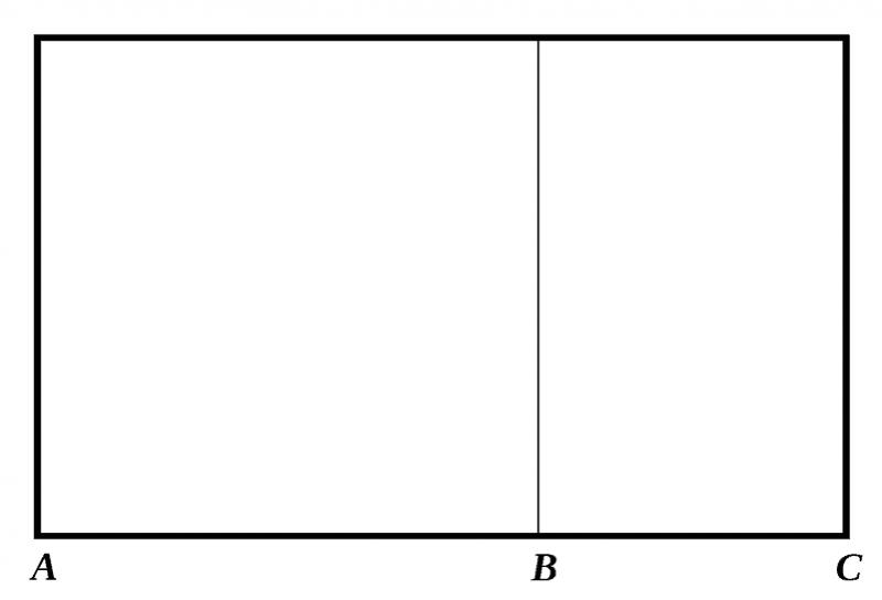 sezione aurea in fotografia rettangolo