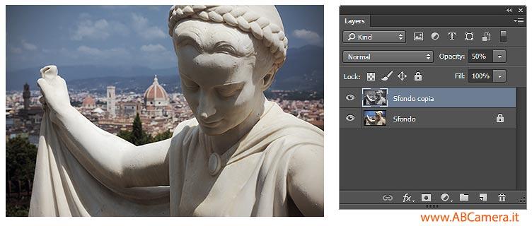 rendere un livello di photoshop trasparente