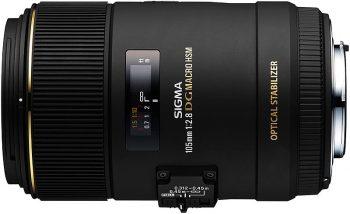 Obiettivo sigma 105mm f/2,8 Macro, compatibile con reflex Nikon e Canon