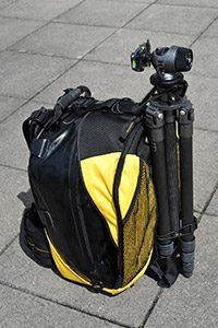 treppiedi fotocamera nello zaino