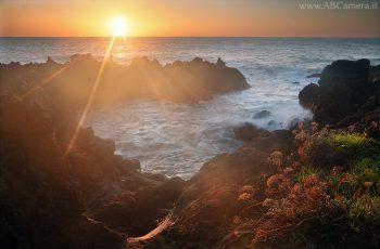 esempio di lens flare in una fotografia con il sole nell'inquadratura